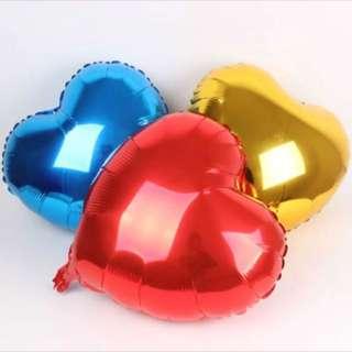 "10"" Heart Foil Balloons"