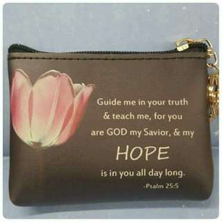 COINPURSE with Bible Verses
