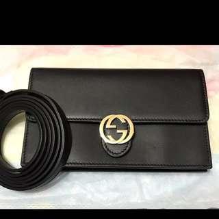 GUCCI 正品 wallet shoulder bag