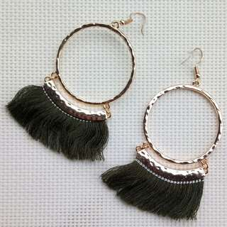 Koream Style Tassled Earrings
