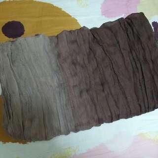 漸變色絲巾