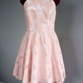 BNWT pink & White Halter Dress
