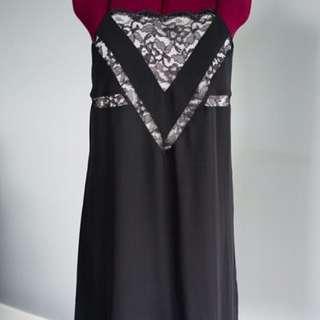 Black & White Lace Dress