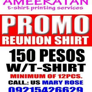 Reunion shirt promo