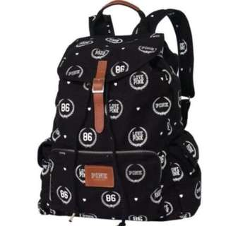 🚚 絕版🔥Victoria's Secret Pink 維多利亞的秘密 休閒Logo後背包