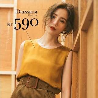 Dresseum金銅色背心S號