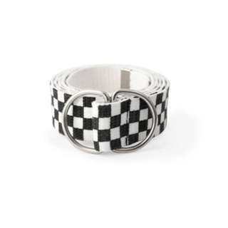 Checkered Double Ring Belt