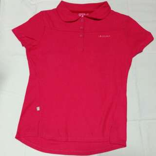 Bright pink sports blouse/ collar