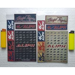 Stickers - Tribute to ALIPH Shoe ( 1 SET = 7 Pieces )