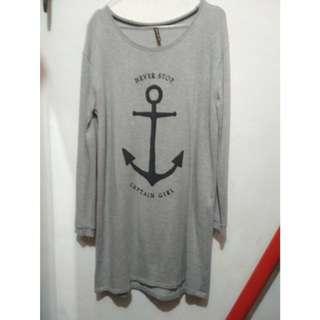 Stradivarius long shirt / long sweater / sweatshirt