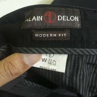 Black Alain Delon Pants