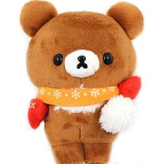 全新 正版 San-X Rilakkuma 鬆弛熊 啡熊 熊 小熊 BB 冬天 頸巾 手套 聖誕