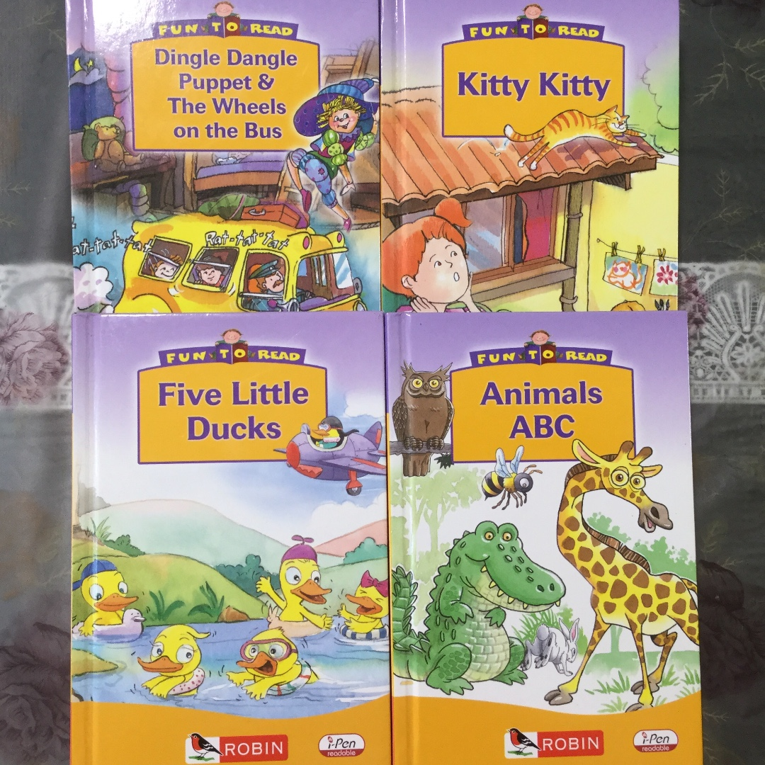 4 i-Pen Series Story Books by Robin, Books & Stationery