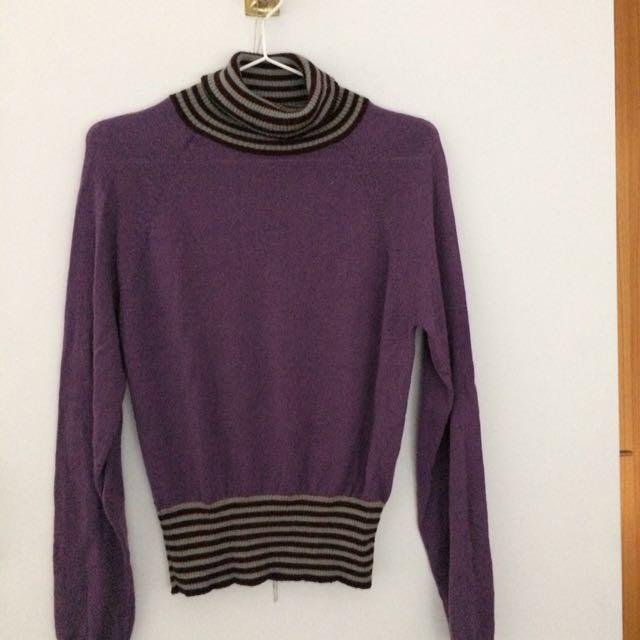 🎀品牌「獨身貴族」。針織高領毛衣。