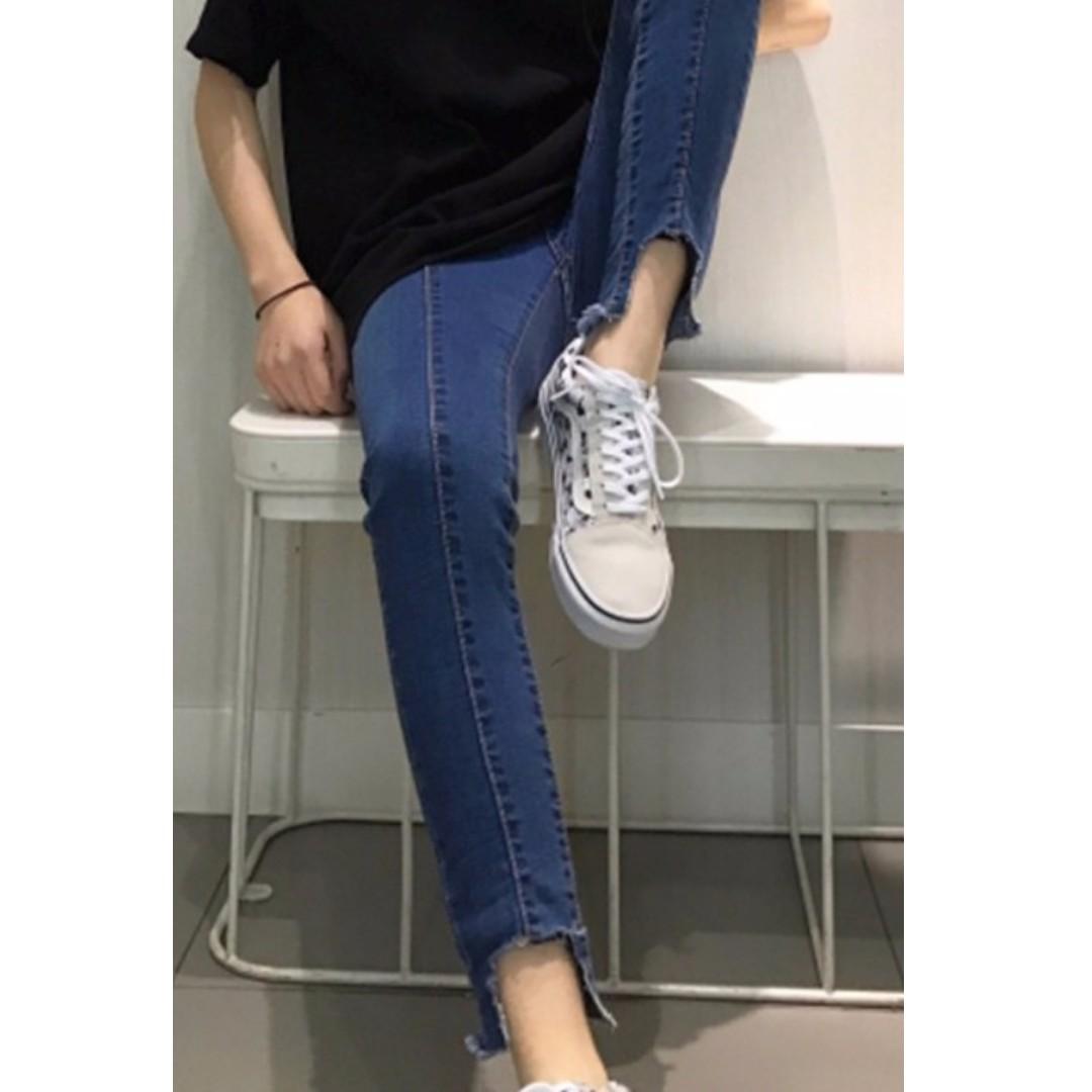 韓版女裝修身顯瘦彈力褲