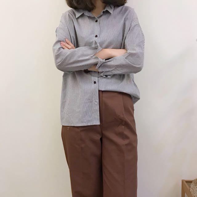 正韓 小寬鬆感襯衫