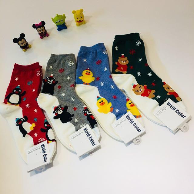 聖誕系列襪子 多雙可議價