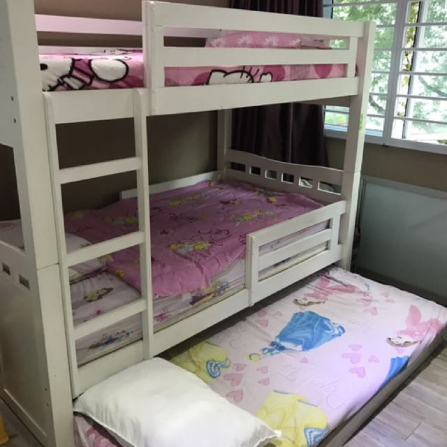 Double Decker Bed Mattress Not Included Furniture Beds Mattresses On Carou