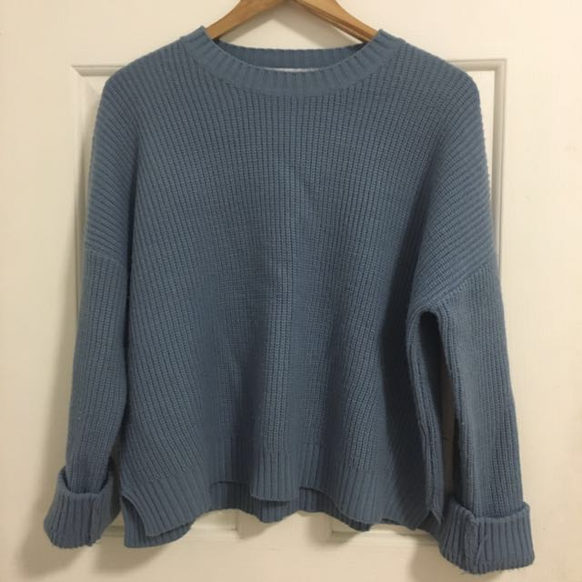 🇰🇷 Twee blue knit jumper