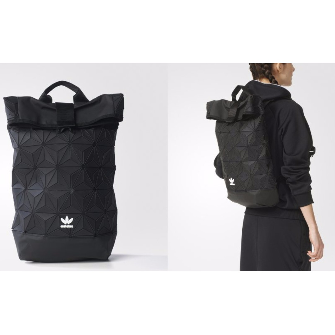 ADIDAS ORIGINALS ISSEY MIYAKI ROLL UP BACKPACK BLACK DEADSTOCK ... 109b76d907458