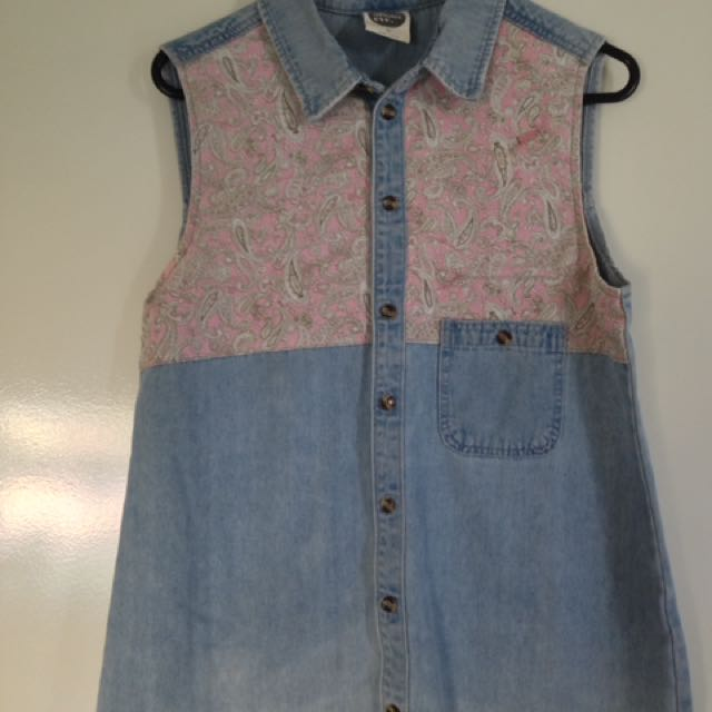 All About Eve 'Hello Paisley' Denim shirt Size 10