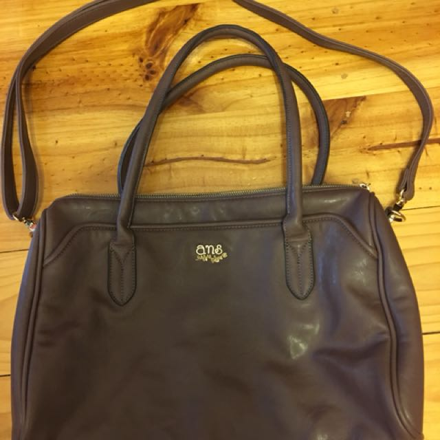 ANS dark purple bag