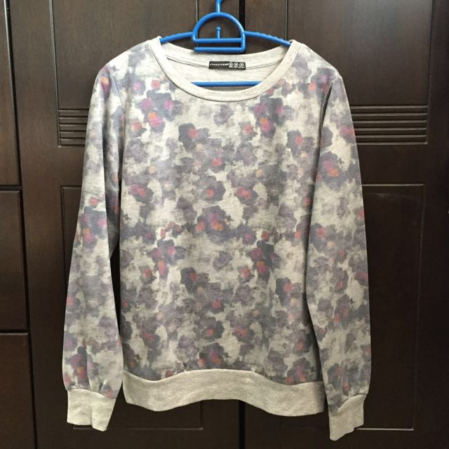 Atmoshere primark floral watercolour print sweater long sleeve top