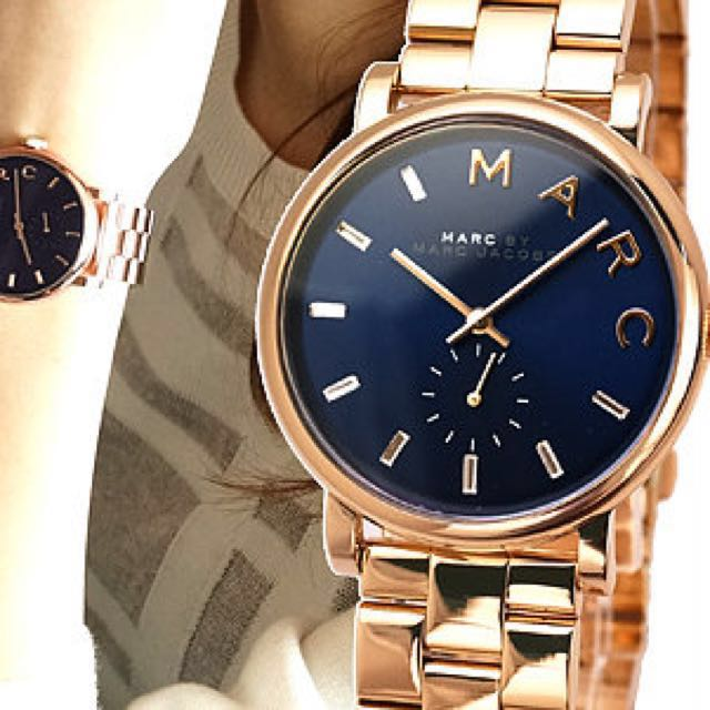 Carousell의 Authentic Marc By Marc Jacobs Mbm3330 Baker Navy Dial