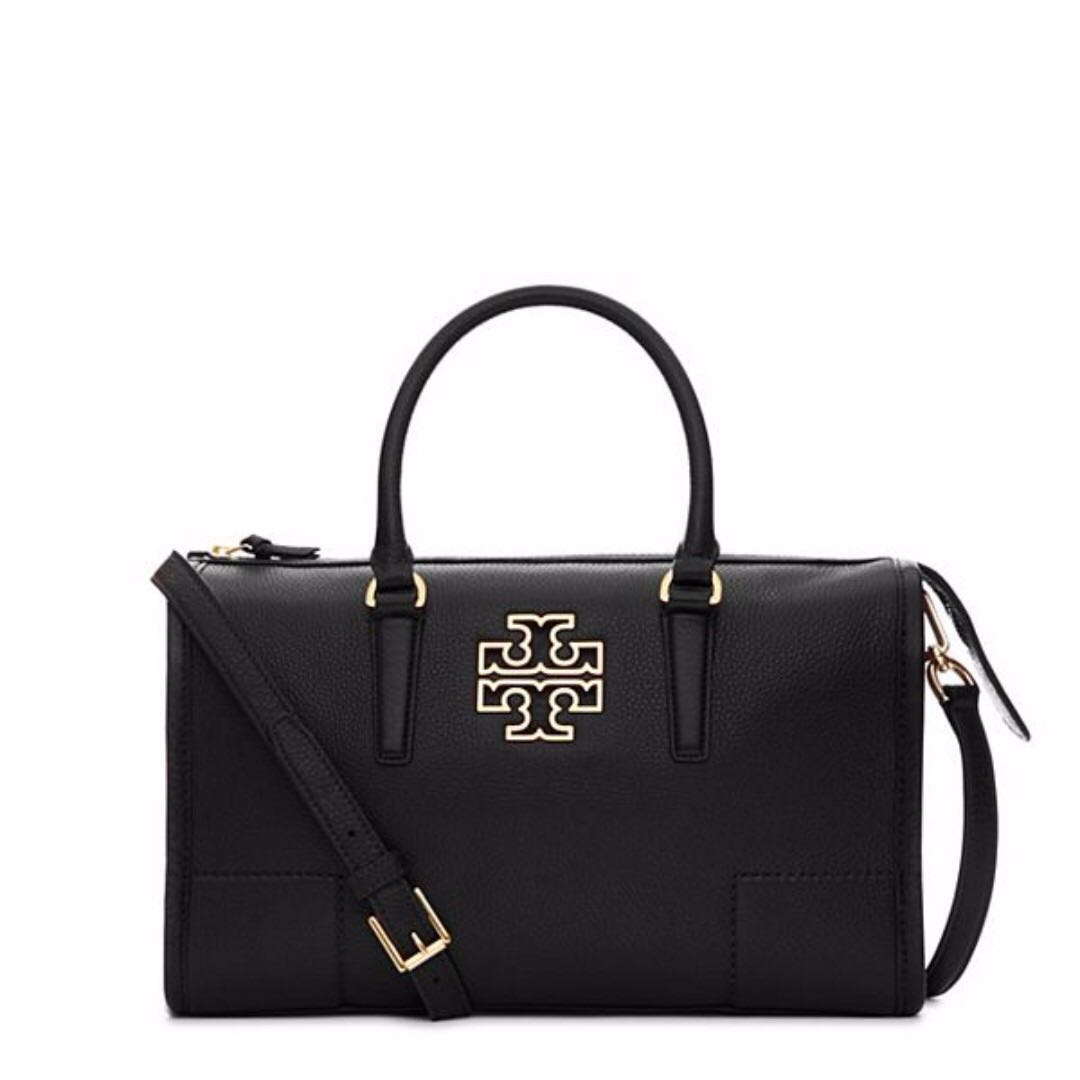 453569abe0c Authentic Tory Burch 31159879 Britten Satchel Logo Leather Sling ...