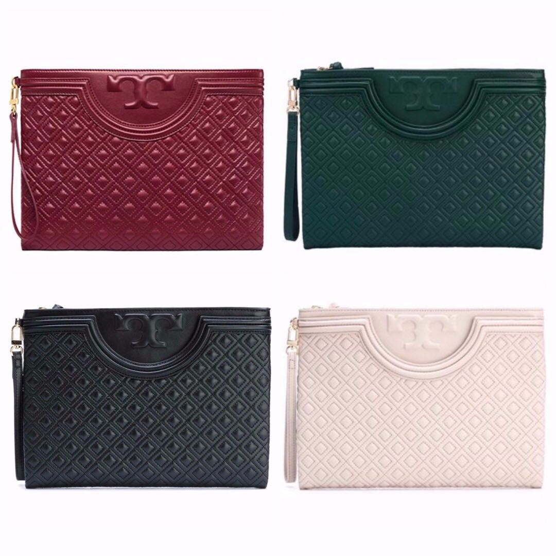 6108a691871 Authentic Tory Burch 32167 Fleming Large Pouch Clutch