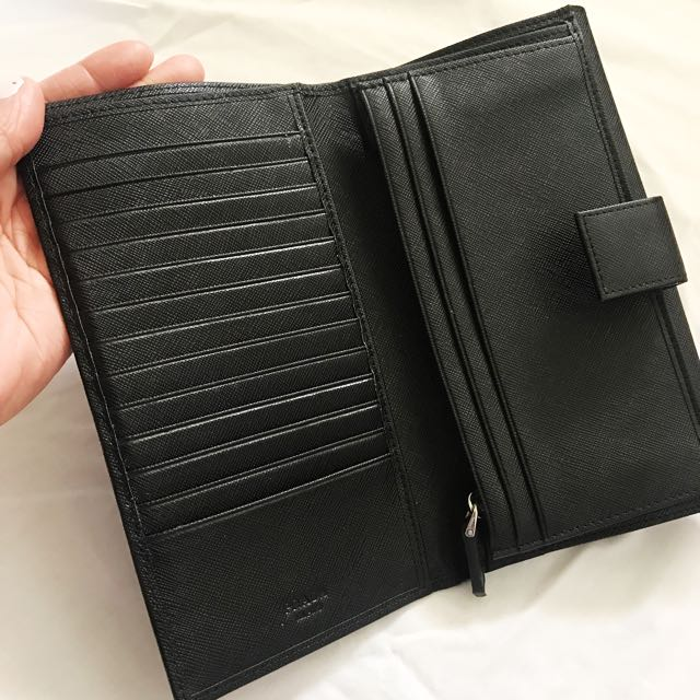 Black Prada Wallet