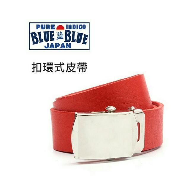 Blue blue japan 扣環式皮帶 Plain-me