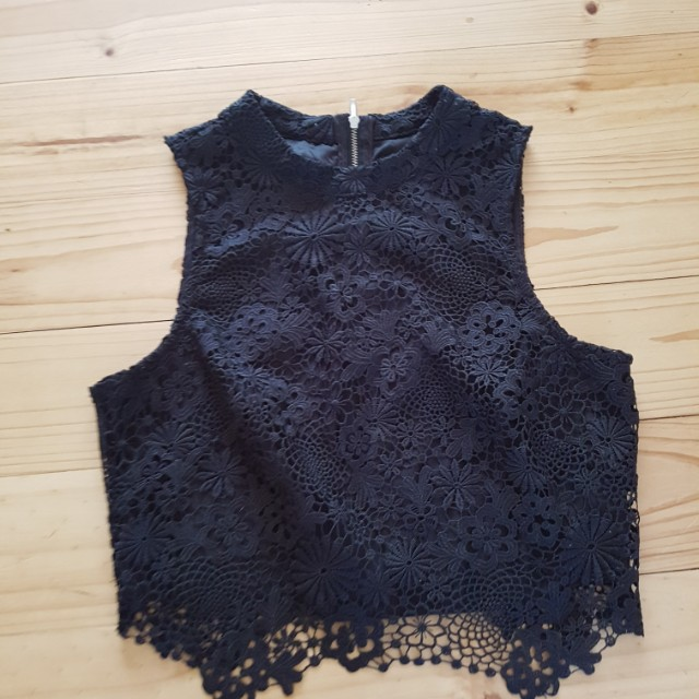 Bnwot forever new lace crop
