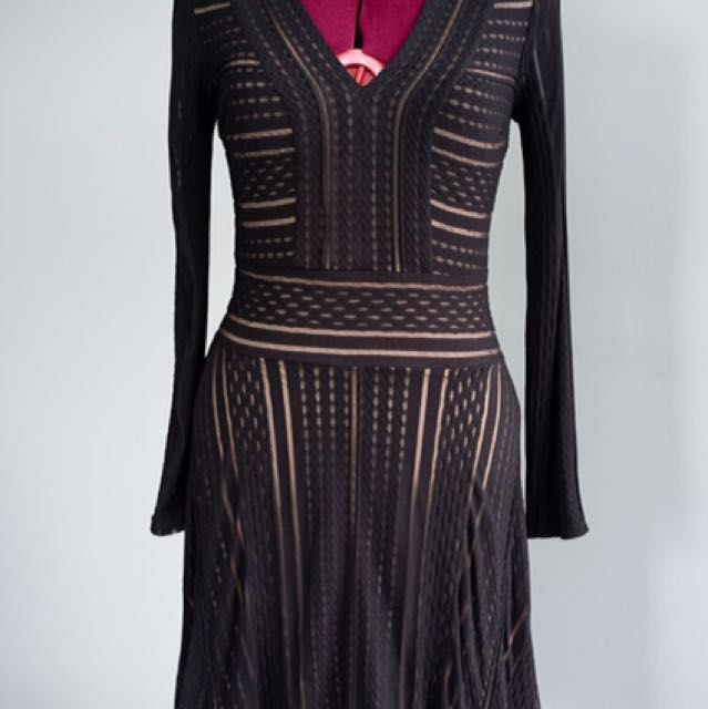 BNWT BCBG black & Nude Dress