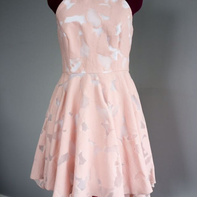 BNWT pink & White Halter Dress