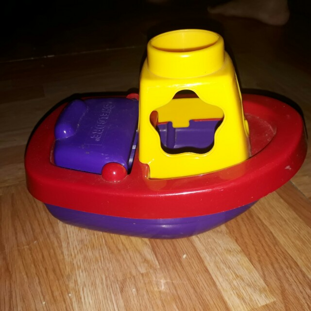 Boat with shape sorter