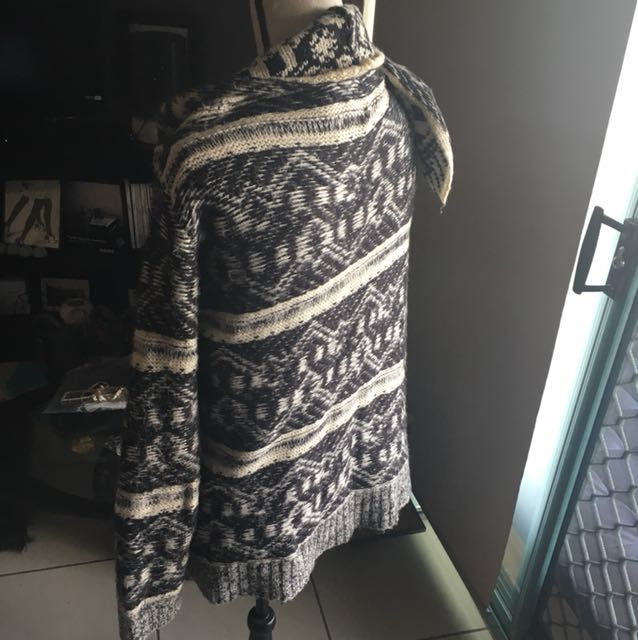 Cardigan Knit black & white