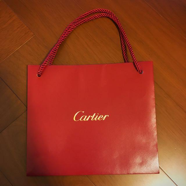Cartier 紙袋 提袋 26*22.5cm