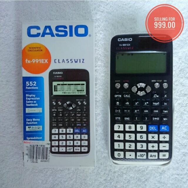 Casio ClassWiz Scientific Calculator, Electronics, Others on Carousell