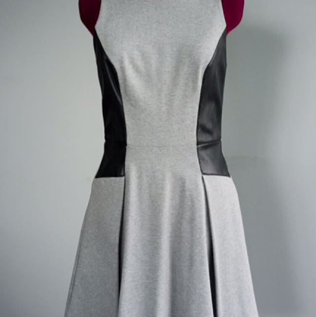 Club Monaco Grey leather Dress