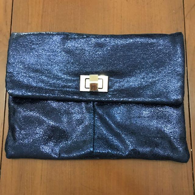 Clutch / sling bag biru tua et cetera