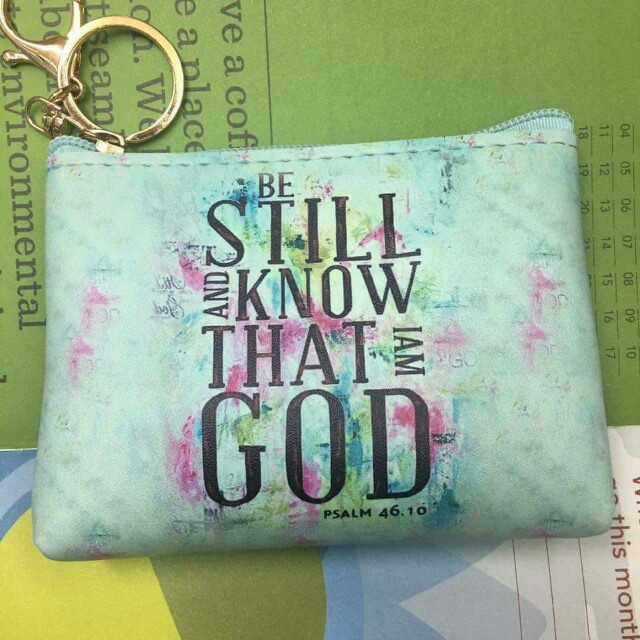 COIN PURSE WITH BIBLE VERSES