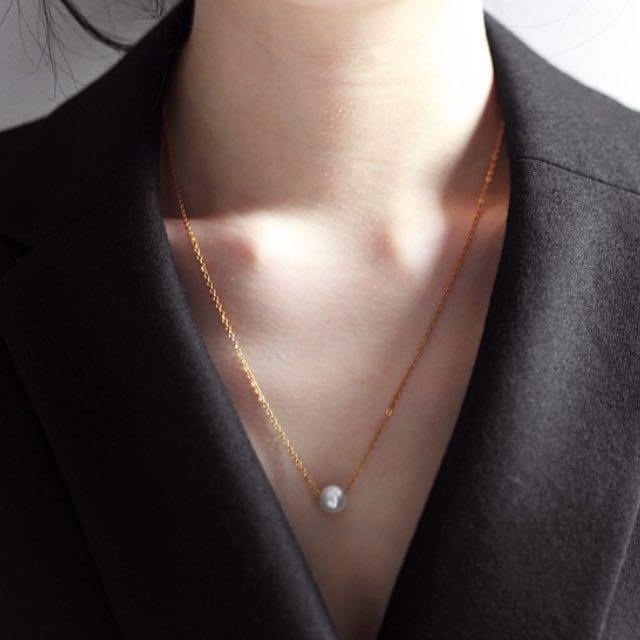 Creamline Pearl Necklace ( kalung mutiara ) gold plated