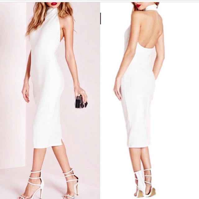 dress putih backless