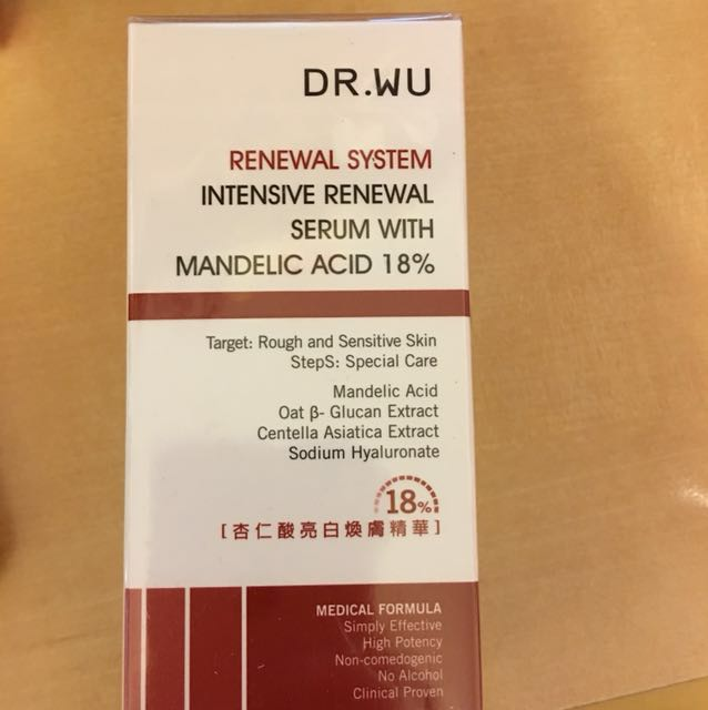 Dr.wu intensive renewal serum with madelic acid 18%
