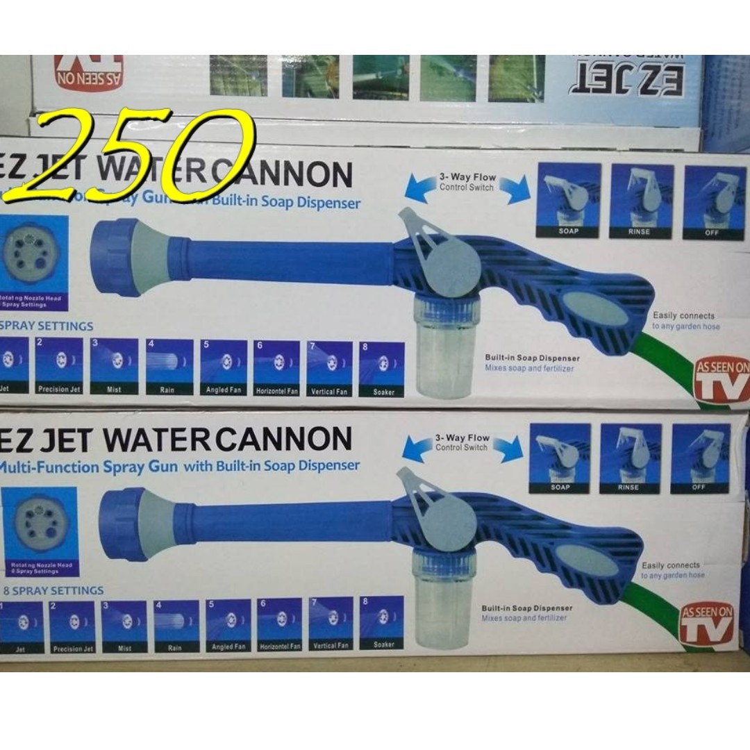 Ez Jet Water Cannon And Magic Hose Home Furniture On Carousell Gun
