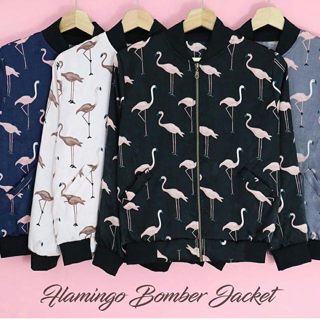 Flamingo boomber jacket