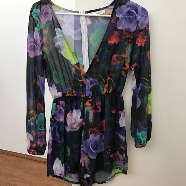 Floral Playsuit Size 8