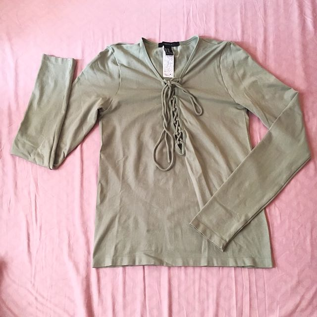 Forever21 Lace Up Longsleeves