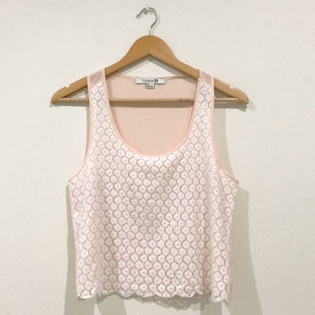 Forever 21 crop lace tank top